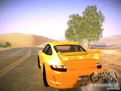 Porsche 911 для GTA San Andreas вид изнутри
