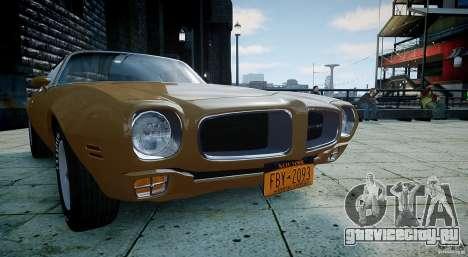 Pontiac Firebird 1970 для GTA 4