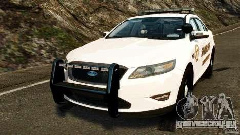 Ford Taurus 2010 CCSO Police [ELS] для GTA 4