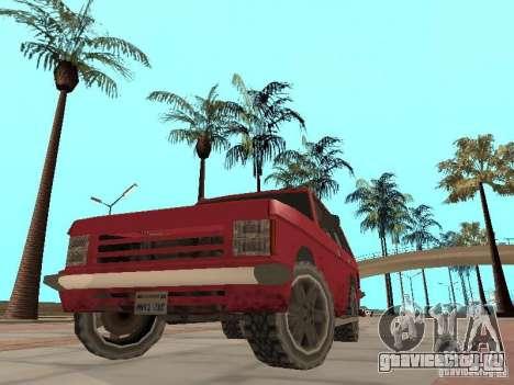 Новый Huntley для GTA San Andreas вид изнутри