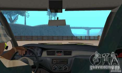 Mitsubishi Lancer Evo The Fast and the Furious 2 для GTA San Andreas вид сзади