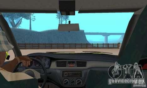 Mitsubishi Lancer Evo The Fast and the Furious 2 для GTA San Andreas вид сзади