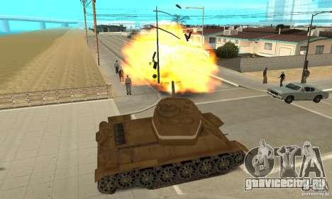 Танк T-34 для GTA San Andreas вид справа