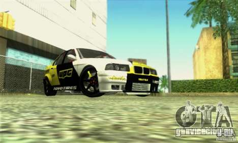BMW E36 Urban Perfomance Garage для GTA San Andreas вид справа