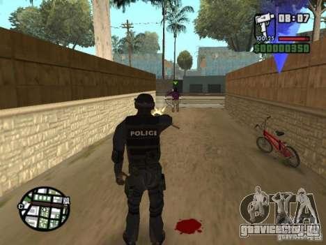 Спецназовец из SWAT 4 для GTA San Andreas пятый скриншот
