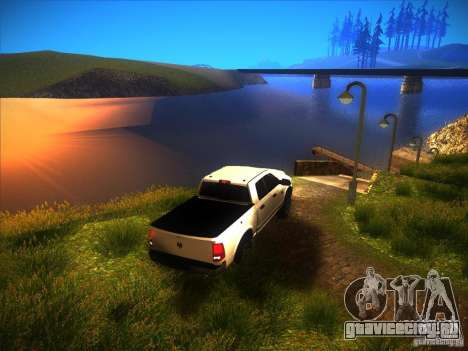 Dodge Ram Heavy Duty 2500 для GTA San Andreas вид изнутри