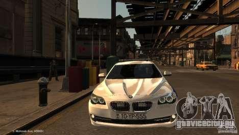 BMW 550i Azeri Police YPX для GTA 4 вид сбоку