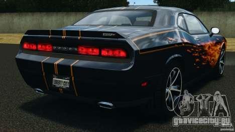 Dodge Challenger SRT8 392 2012 для GTA 4 вид сзади слева