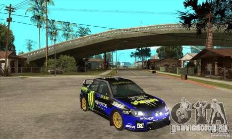 Subaru Impreza STi WRC wht1 для GTA San Andreas вид изнутри