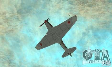 Як-9 времён ВОВ для GTA San Andreas вид сбоку