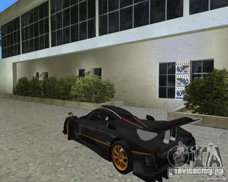 Pagani Zonda R для GTA Vice City вид справа