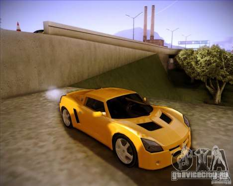 Opel Speedster для GTA San Andreas вид сзади слева