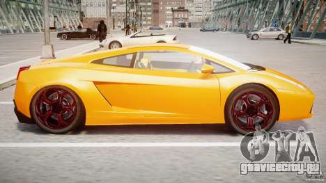 Lamborghini Gallardo Superleggera для GTA 4 вид сзади слева