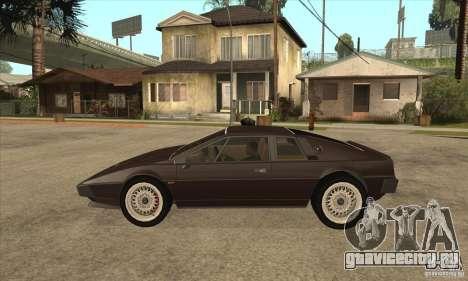 Lotus Esprit S3 для GTA San Andreas вид слева