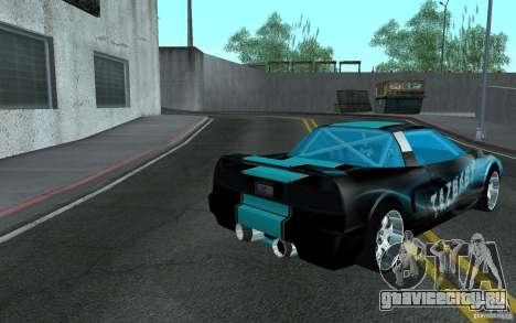 Baby blue Infernus для GTA San Andreas вид сзади слева