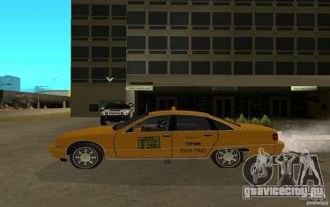 Chevrolet Caprice taxi для GTA San Andreas вид сзади слева