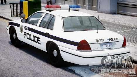 Ford Crown Victoria FBI Police 2003 для GTA 4 вид справа
