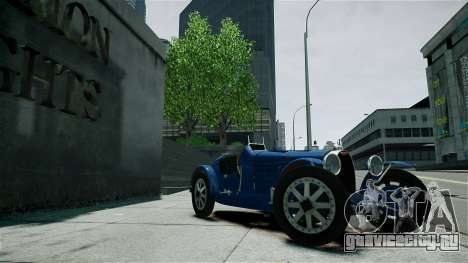 Bugatti Type 35C для GTA 4 вид сбоку