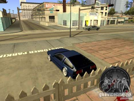Delorean DMC-12 Drift для GTA San Andreas вид справа