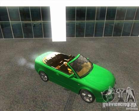 Audi A4 Convertible 2005 для GTA San Andreas вид сзади