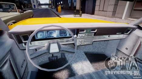 Chevrolet Impala Taxi 1983 [Final] для GTA 4 вид сзади