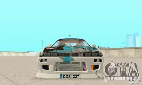 Nissan Silvia S13 NonGrata для GTA San Andreas вид сзади