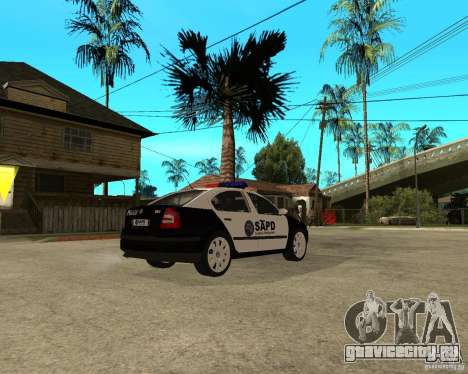 Skoda Octavia II 2005 SAPD POLICE для GTA San Andreas вид справа