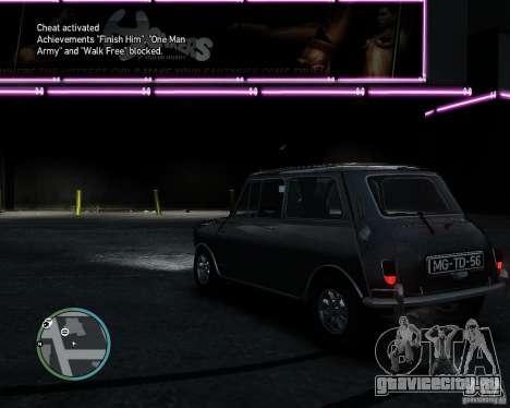 Austin Mini Cooper S для GTA 4 вид справа