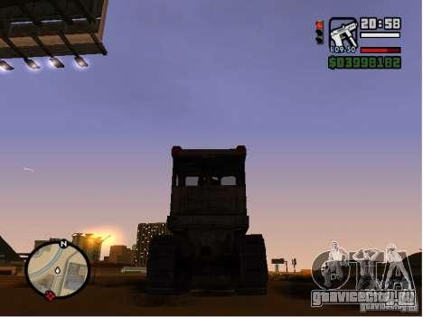 Bulldozer T 130 для GTA San Andreas вид справа