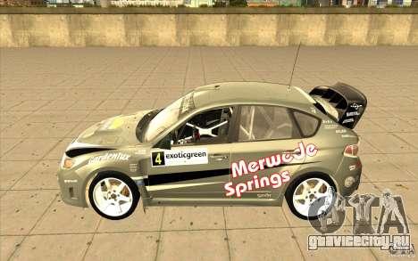 Subaru Impreza WRX STi с новыми винилами для GTA San Andreas вид сзади