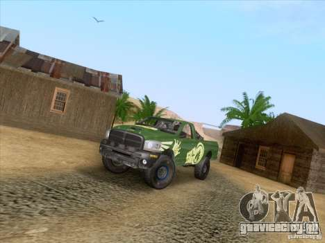 Dodge Ram Trophy Truck для GTA San Andreas вид сзади