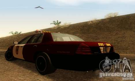 Ford Crown Victoria Minnesota Police для GTA San Andreas вид слева