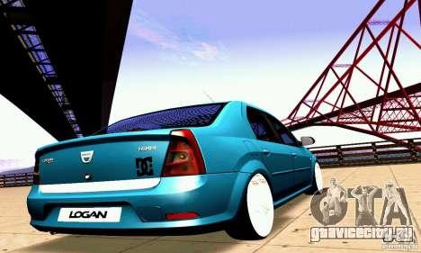 Dacia Logan 2008 для GTA San Andreas вид сбоку