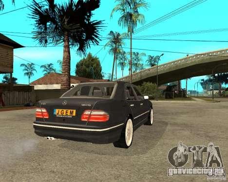 Mercedes–Benz E Class для GTA San Andreas вид сзади слева