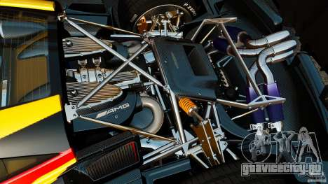 Pagani Huayra 2011 [EPM] для GTA 4 вид изнутри