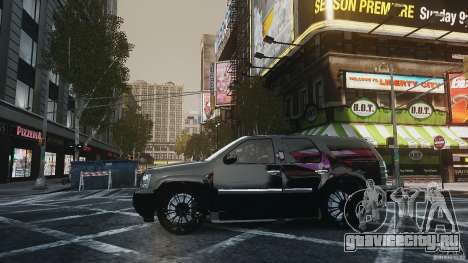 Chevrolet Tahoe tuning для GTA 4 вид сзади слева