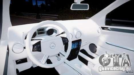 Mercedes-Benz ML63 AMG v2.0 для GTA 4 вид сзади