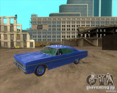 Plymouth Fury III coupe 1969 для GTA San Andreas вид справа
