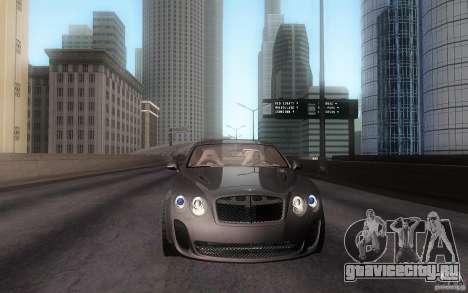 Bentley Continental SS для GTA San Andreas вид сзади слева