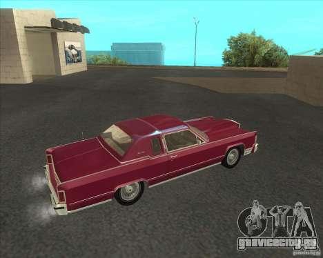 Lincoln Continental Town Coupe 1979 для GTA San Andreas вид слева
