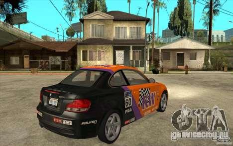 BMW 135i Coupe для GTA San Andreas вид сзади