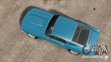 Ford Mustang Customs 1967 для GTA 4 вид справа