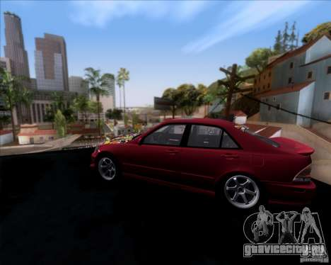 Lexus IS300 Hella Flush для GTA San Andreas вид слева