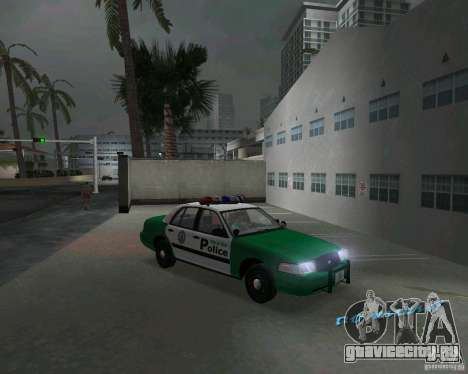 Ford Crown Victoria 2003 Police для GTA Vice City вид сзади