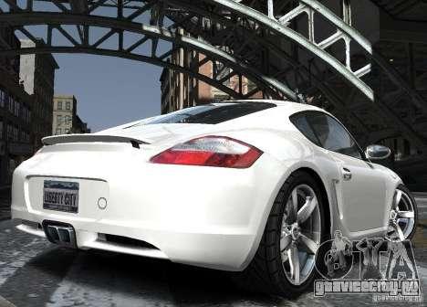 Porsche Cayman S1 для GTA 4 вид сбоку