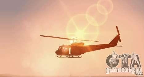 UH-1H для GTA San Andreas вид сзади слева