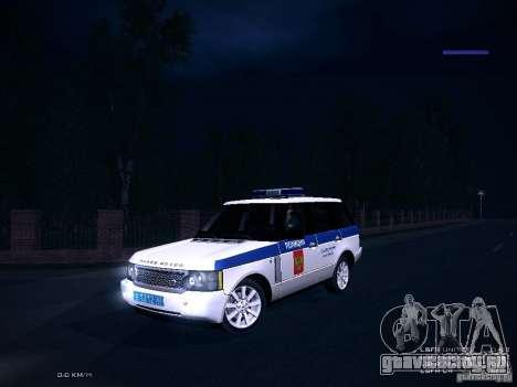 Range Rover Supercharged 2008 Полиция ГУВД для GTA San Andreas вид изнутри