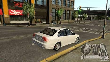 Honda Civic V-Tec для GTA 4 вид сзади слева