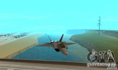 F-22 Grey для GTA San Andreas вид сзади