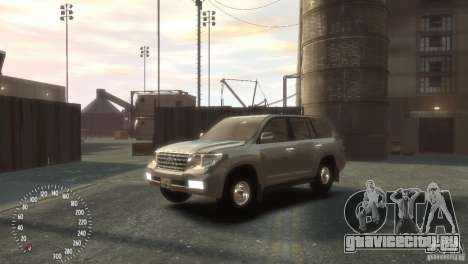 Toyota Land Cruiser 200 2010 для GTA 4